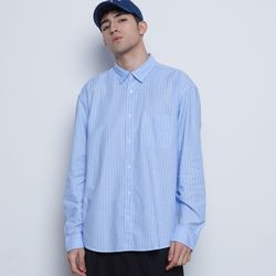 M715 oxford basic stripe shirts  blue