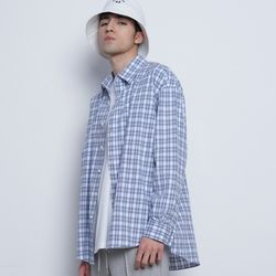 M02 sper check over shirts blue