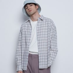 M02 sper check over shirts beige