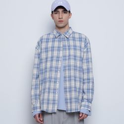 M03 bold check shirts blue