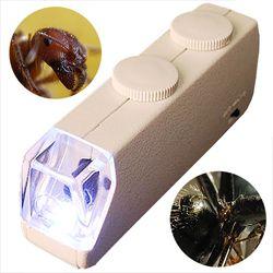LED 미니 현미경 확대경 돋보기 진드기 교육