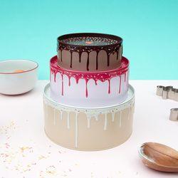[썩유케이] 케이크 정리함 다용도 보관함 틴케이스