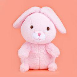 쫑긋토끼 인형 핑크