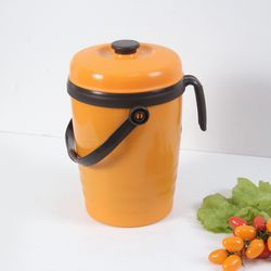 프레쉬 오렌지 주방 음식물 쓰레기통 3L