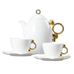 Geometrica 지오메트리카골드 커피&주전자 세트 3(6)p