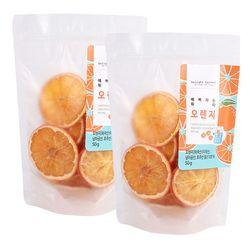 예뻐지는 워터 오렌지 슬라이스 저온건조 과일칩 50g 2개세트