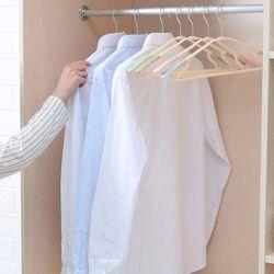논슬립옷걸이 바지걸이 파스텔 다용도옷걸이10개세트