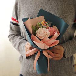 레인보우 비누꽃 사탕꽃다발 [2type]