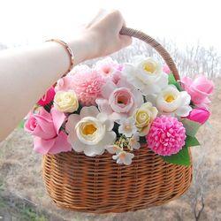 핑크 벚꽃바구니 기념일선물