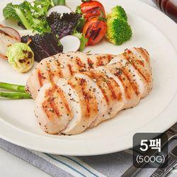 [신선하닭]소프트 닭가슴살 통후추 페퍼500g(100g 5팩)