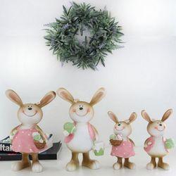 에그 핑크 토끼커플 (2size)
