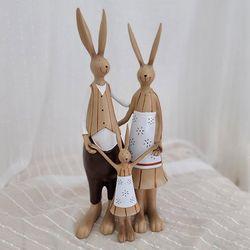 브라운 토끼가족