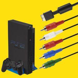 PS2 PS3 호환 컴포넌트 AV케이블 고급형 1.8M 케이블