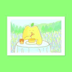 레몬곰 카페 엽서