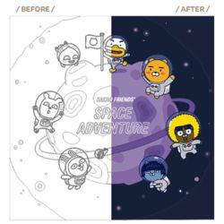 카카오프렌즈 그림그리기 우주모험 네이비 40X40