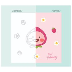 리틀프렌즈 그림그리기 딸기 리틀어피치 25X25