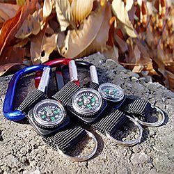 카라비너 나침반 열쇠고리 여행 가방 캠핑 등산