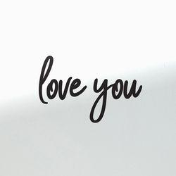 Love you 감성 레터링 인테리어 스티커 large