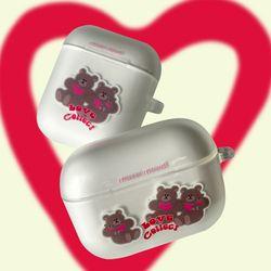 Heart Bear airpods case (젤리에어팟케이스)