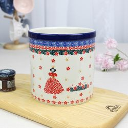 폴란드그릇 아티스티나 도자기 조리도구통 수저통2521