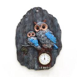 (katl047)벽걸이 부엉이 시계 블루