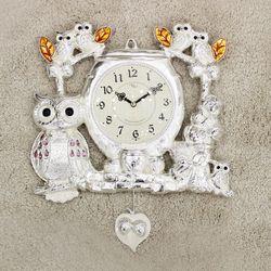 (kspz362)짝 부엉이 시계 은