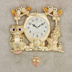 (kspz363)짝 부엉이 시계 금