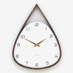 (ktk178)저소음 물방울 삼각 벽시계