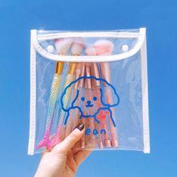 본드 귀여운 캐릭터 PVC 투명 파우치