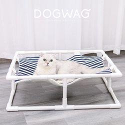 스트라이프 해먹 강아지 고양이 침대