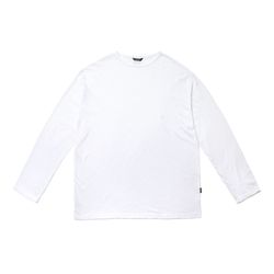 LIGHT WEIGHT SEMI OVER LONG SLEEVES T-SHIRTS WHITE