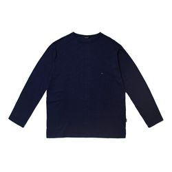 LIGHT WEIGHT SEMI OVER LONG SLEEVES T-SHIRTS NAVY