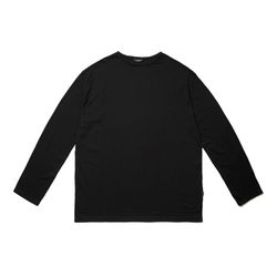 LIGHT WEIGHT SEMI OVER LONG SLEEVES T-SHIRTS BLACK