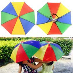 야외 활동 등산 낚시 야유회 경기장 그늘막 우산 모자