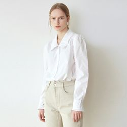 PASTEL FRILL WIDE SH[WHITE]