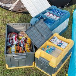 상상공간 수납끝판왕 캠핑 폴딩 박스 아이스박스 트렁크정리함