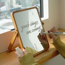 레터링 우드 원목 탁상 거울 원하는 문구가능
