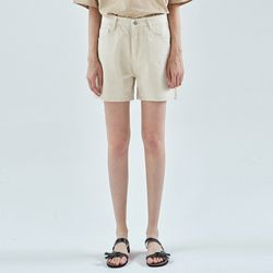 RUBY WIDE COTTON SHORT[OATMEAL]