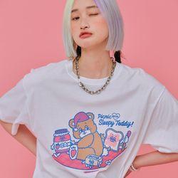 NEONMOON 21SS Sleepy Teddy T-shirt WHITE