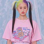 NEONMOON 21SS Sleepy Teddy T-shirt PINK