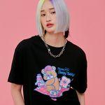 NEONMOON 21SS Sleepy Teddy T-shirt BLACK