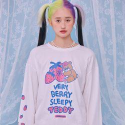 NEONMOON 21SS Sleepy Teddy Long T-Shirt WHITE