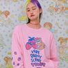 NEONMOON 21SS Sleepy Teddy Long T-Shirt PINK