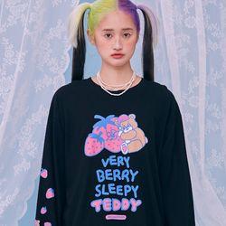 NEONMOON 21SS Sleepy Teddy Long T-Shirt BLACK