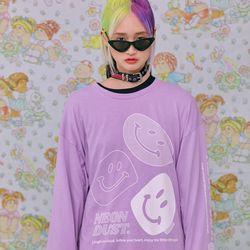 NEONMOON ND 21SS Smile T-shirt PURPLE