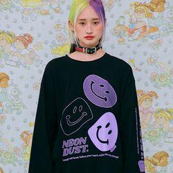 NEONMOON ND 21SS Smile T-shirt BALCK