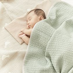 이몽 뱀부리플 3중직 신생아 아기 블랭킷 4colors