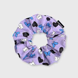 Awesome cat-purple(곱창머리끈)
