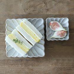 오반자이 내추럴 시노기 정사각접시 일본그릇 (2size)