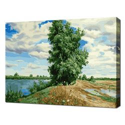 [명화그리기]4050 싸이프러스 나무가 있는 풍경 28색 풍경화